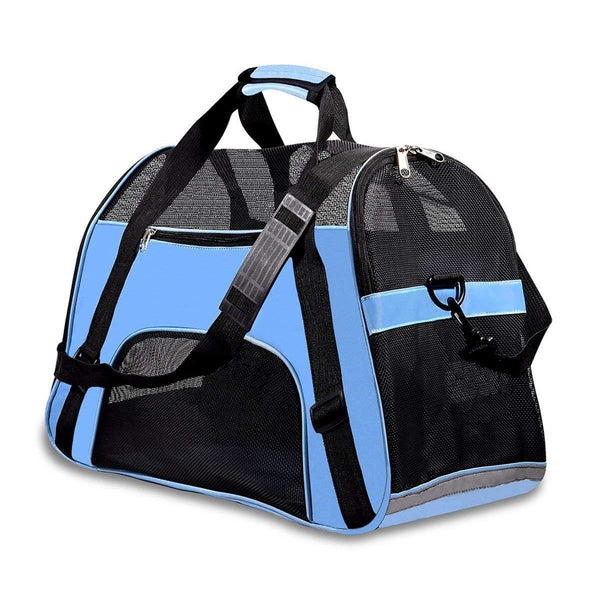 Pet Travel Carriers Soft Sided Portable Bags Dogs Cats Airline Approved Dog Carrier(2018 Upgraded Version)