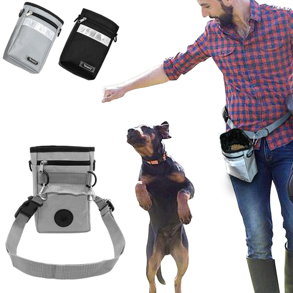 Dog Treat Training Pouch with Poop Bag Dispenser