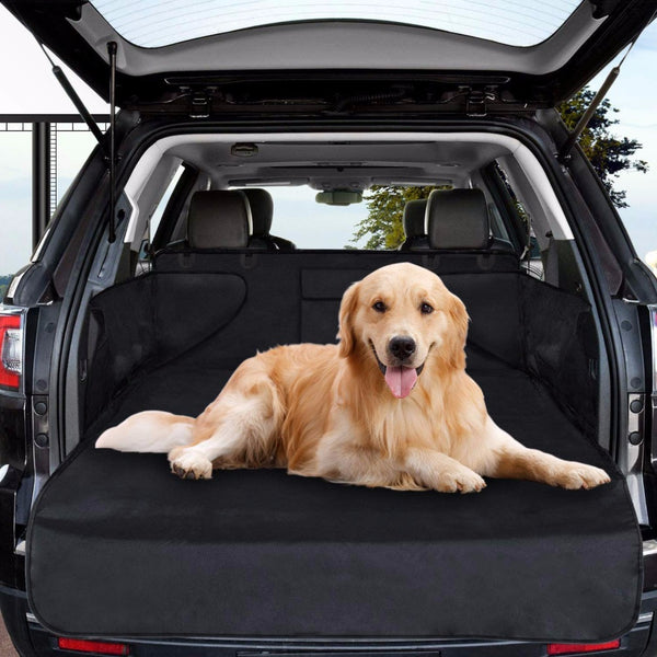 Dog cat seat cover universal waterproof scratch-proof carrier bag for dog cat pet car boot liner protector with side protection