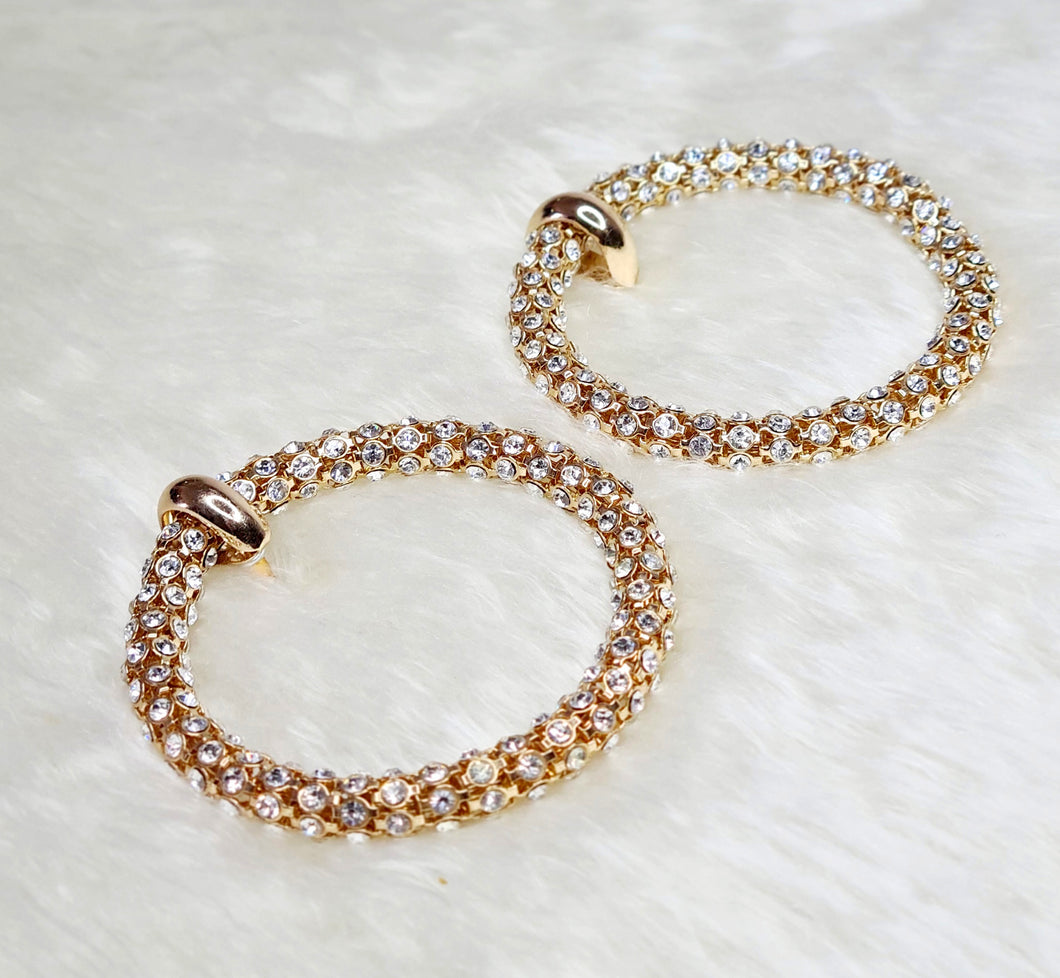Withney Crystal Hoops