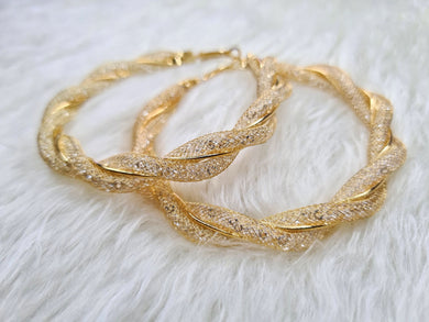 Brianna Gold and Crystal Hoops