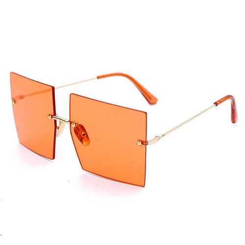 Clyde Orange Square Sunglasses Amkaysha