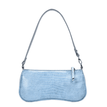Load image into Gallery viewer, Jamie Blue Crocodile Pattern Bag