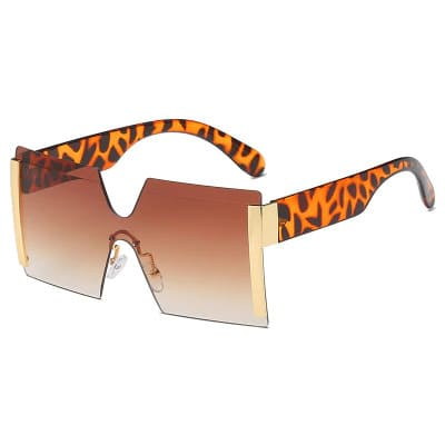 Shelia Brown Square Sunglasses Amkaysha