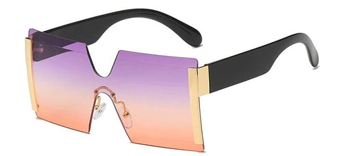Shelia Pink Square Sunglasses Amkaysha