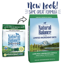 Load image into Gallery viewer, Natural Balance L.I.D. Limited Ingredient Diets Lamb Meal & Brown Rice Dry Dog Food