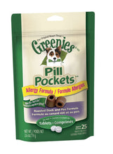 Load image into Gallery viewer, Greenies Pill Pockets Canine Roasted Duck and Pea Allergy Formula Dog Treats