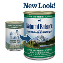 Load image into Gallery viewer, Natural Balance L.I.D. Limited Ingredient Diets Lamb and Brown Rice Formula Canned Dog Food