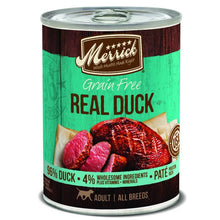 Load image into Gallery viewer, Merrick Grain Free 96% Real Duck Canned Dog Food