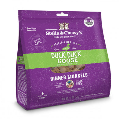 Stella & Chewy's Duck Duck Goose Grain Free Dinner Morsels Freeze Dried Raw Cat Food