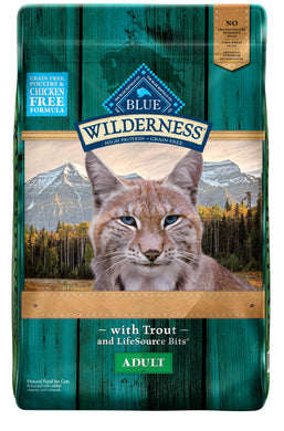 Blue Buffalo Wilderness Rocky Mountain Grain Free Trout High Protein Recipe Adult Dry Cat Food