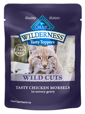Blue Buffalo Wilderness Wild Cuts Tasty Toppers Tasty Chicken Morsels in Savory Gravy Cat Food Pouch