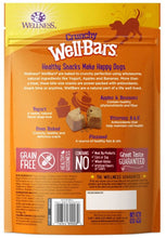 Load image into Gallery viewer, Wellness Natural Grain Free Wellbars Crunchy Yogurt, Apples and Bananas Recipe Dog Treats