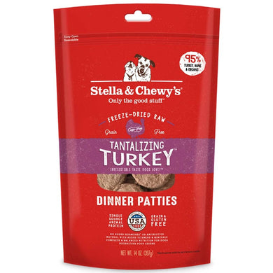 Stella & Chewy's Tantalizing Turkey Grain Free Dinner Patties Freeze Dried Raw Dog Food