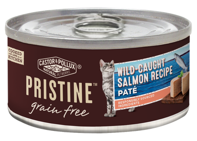 Castor and Pollux Pristine Grain Free Wild Caught Salmon Pate Canned Cat Food
