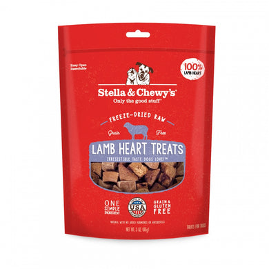 Stella & Chewy's Freeze-Dried Raw Lamb Heart Dog Treats