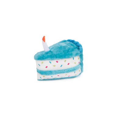 ZippyPaws NomNomz Plush Blue Birthday Cake Dog Toy