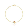 Gold rainbow gemstone circle bracelet