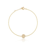 Gold Diamond circle bracelet