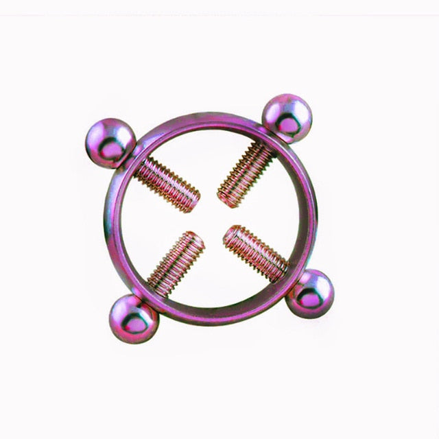 1pcs erotic Accessorie Nipple Clamps Sex Toys for Women Stainless Steel Breast Stimulator Nipple Ring Shield Body Piercing