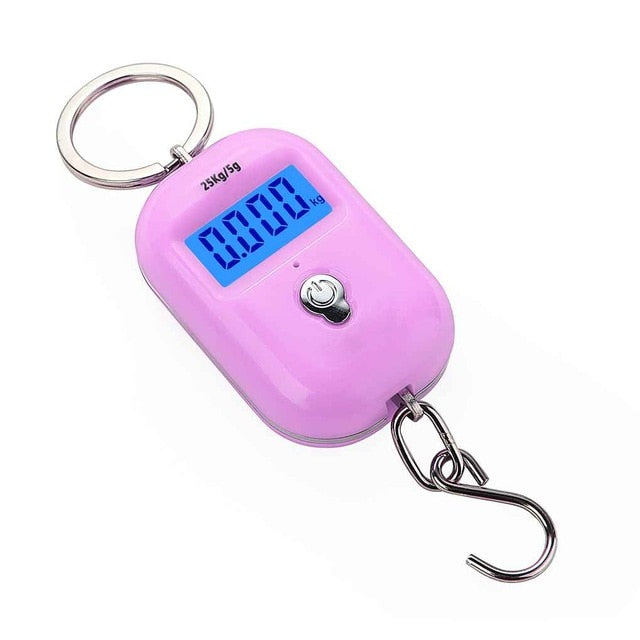 New 25Kg x 5g Digital Hanging Scale Mini Electronic Luggage Hook Scale LCD Backlight Kitchen Steelyard