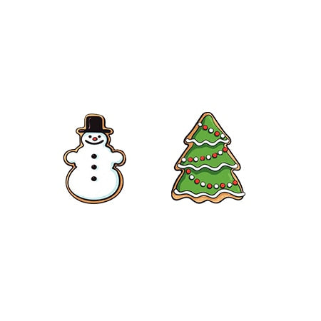Christmas presents Resin Earrings Santa Boot Snowman Candy Acrylic Earrings Epoxy Stud Earring