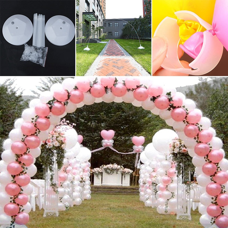 1 Set Birthday Party Decorations Kids Adult Birthday Balloons Wedding Balloons Column Stand Arch Holder Christmas Home Decoratio