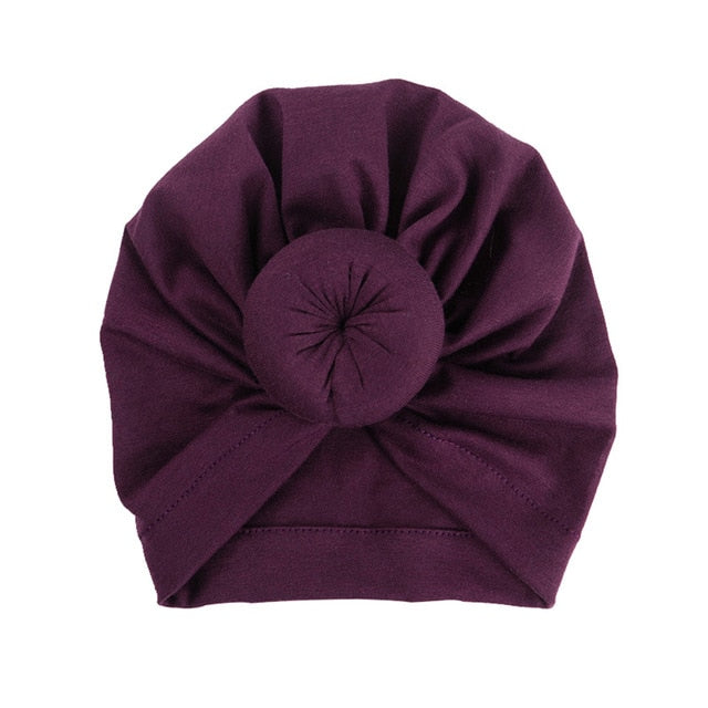 8 Colors Infant Headbands Solid Color Cotton Kont Turban Headwear For Girls Spandx Stretchy Beanie Hat Baby Hair Accessories