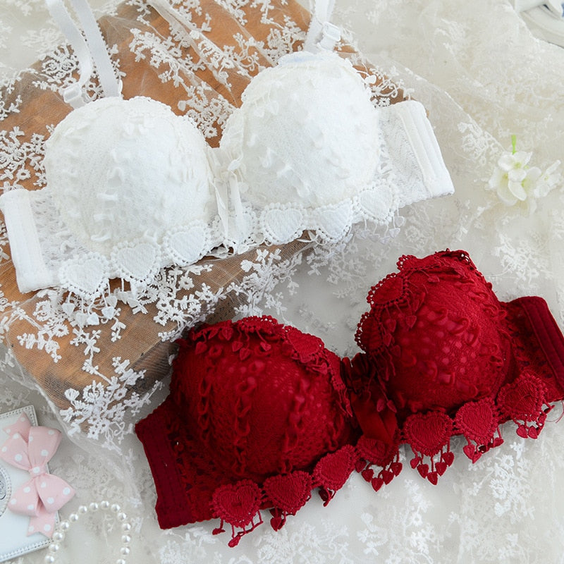 Floral lace comfort fit underwear convertible double straps bra sexy women 3/4 cup bras female brassiere padded bra