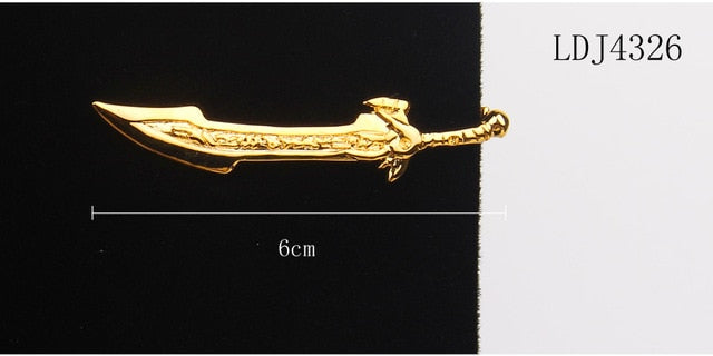 Tie Clip For Men Classic Meter Tie Pin Copper Tie Bar Quality Enamel Tie Collar Pin Crystal Business Corbata