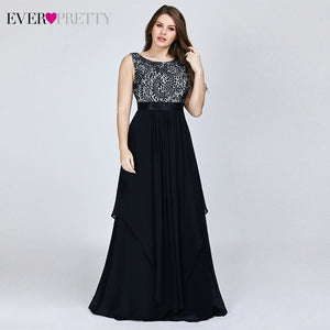 Plus Size Floral Lace Bridesmaid Dresses Ever Pretty A-Line Ruffles Sleeveless O-Neck Layer Elegant Wedding Party Gowns