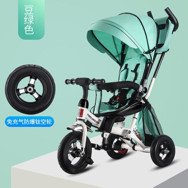 4 In 1 Infant Tricycle Folding Rotating Seat Baby Stroller 3 Wheel Bicycle  Kids Bikes Three Wheel Stroller Baby Trolley