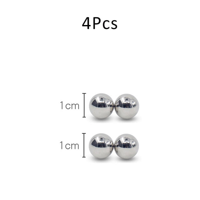 10mm Magic Ball Nipple Clamps Powerful Magnetic Orbs Clitoris BDSM Bondage Adult Erotic Sex Toys For Woman Couple Gay Game Toys