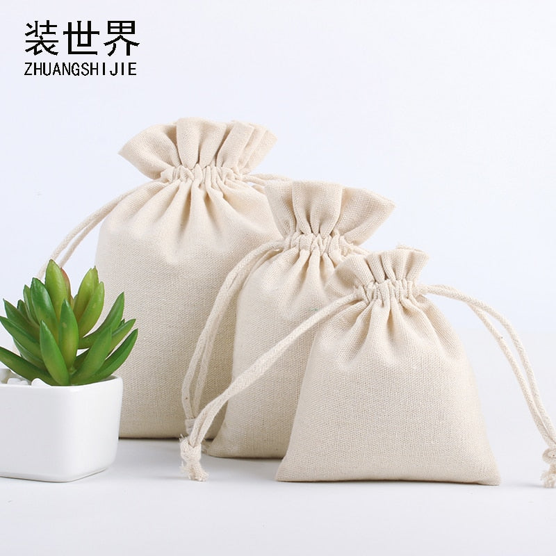 Price Natural Resuable Jute Linen Drawstring Pouch Packaging Gift Bag Logo Printed Jewelry Christmas Bag