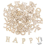 100pcs Wood English Alphabet Decorative Letters Wooden Numbers Mini Wood Ornaments Scrapbooking DIY Art Crafts for Decoration