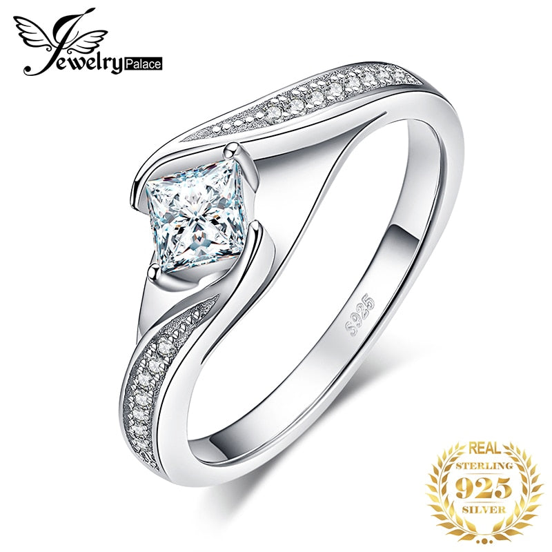 Princess Cut Engagement Ring 925 Sterling Silver Rings for Women Promise Ring Wedding Rings Silver 925 Jewelry
