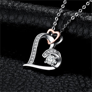 Infinity Heart Pendant Necklace 925 Sterling Silver Choker Statement Necklace Women Silver 925 Jewelry Without Chain