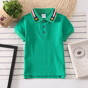 Boys Polo Shirts Short Sleeve Kids Shirt for Boys Collar Tops Tees Fashion Baby Boys Girls Shirts 2-16 Years Child Clothes