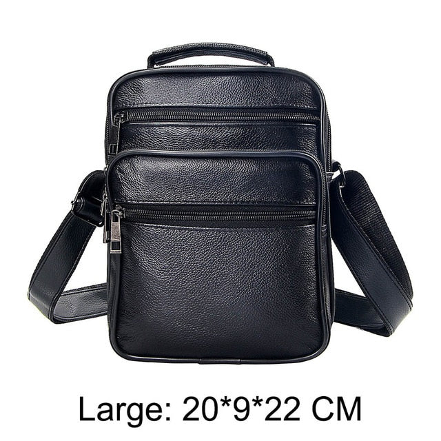 Mens Leather Small Messenger Bag Satchels Multifunctional Crossbody Shoulder Bag for Travel Casual Male Zipper Pouch Phone Bag
