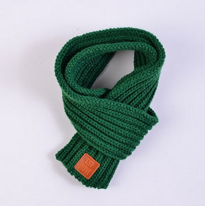 lovely cotton knitted kids scarf solid winter warm scarves children baby boy girl