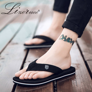Summer Men Flip Flops High Quality Beach Sandals Anti-slip Zapatos Hombre Casual Shoes