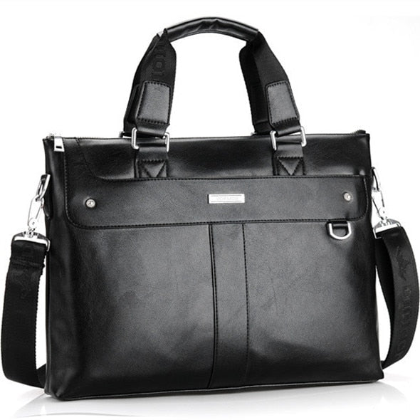 Men Briefcase Business Shoulder Bag Leather Messenger Bags Computer Laptop Handbag Bag Men's Travel Bags
