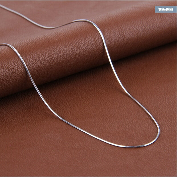 High Quality Fashion Hot Sell Snake Chain 925 Sterling Silver Necklaces Jewelry