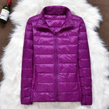 Winter Women Ultralight Thin Down Jacket White Duck Down Hooded Jackets Long Sleeve Warm Coat Parka Female Portable Outwear