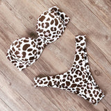 Bikini Swimwear Women Swimsuit Leopard Brazilian Bikini Set Push Up Bathing Suit Female Summer Beach Wear Biquini