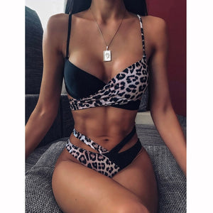 Sexy Women High Waist Bikini Swimsuit Swimwear Female Bandeau Thong Brazilian Biquini Bikini Set Bathing Suit Bather