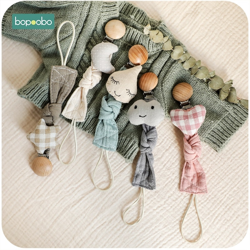 1pc Baby Dummy Pacifier Chain Clip Cotton Cloth Plush Animal Toys Soother Nipples Holder Newborn Toy Feeding Accessories