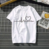 Women's t-shirt Harajuku love t shirt women feminina ladies Than heart ulzzang graphic t shirts women summer femme clothes