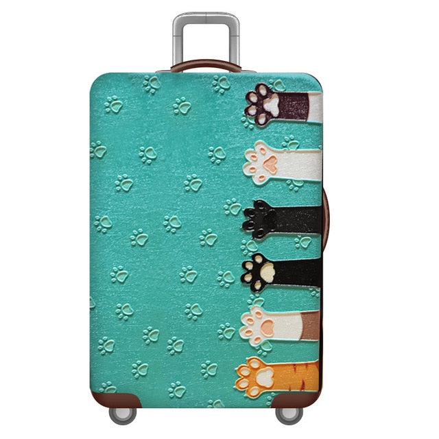 World Map Design Luggage Protective Cover Travel Suitcase Cover Elastic Dust Cases For 18 to 32 Inches Travel Accessories