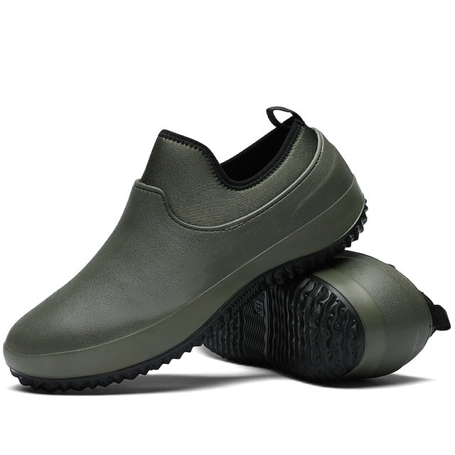 Men Shoes Kitchen Working Shoes Breathable Non-slip Waterproof Chef Shoes Casual Flat Work Shoes Water Shoes Rain Boots